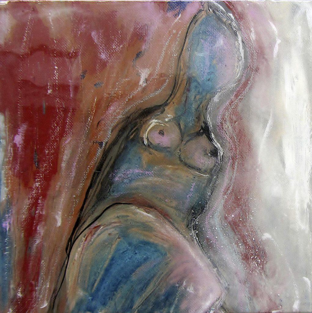 Feminin 1, 25 x 25 cm, Acryl, 2020, ©VG Bild-Kunst
