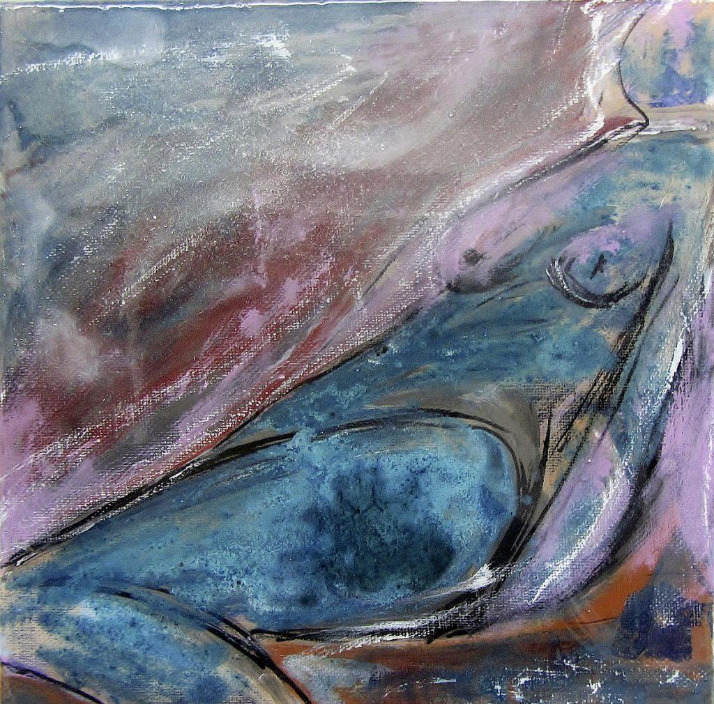 Feminin 2, 25 x 25 cm, Acryl, 2020, ©VG Bild-Kunst