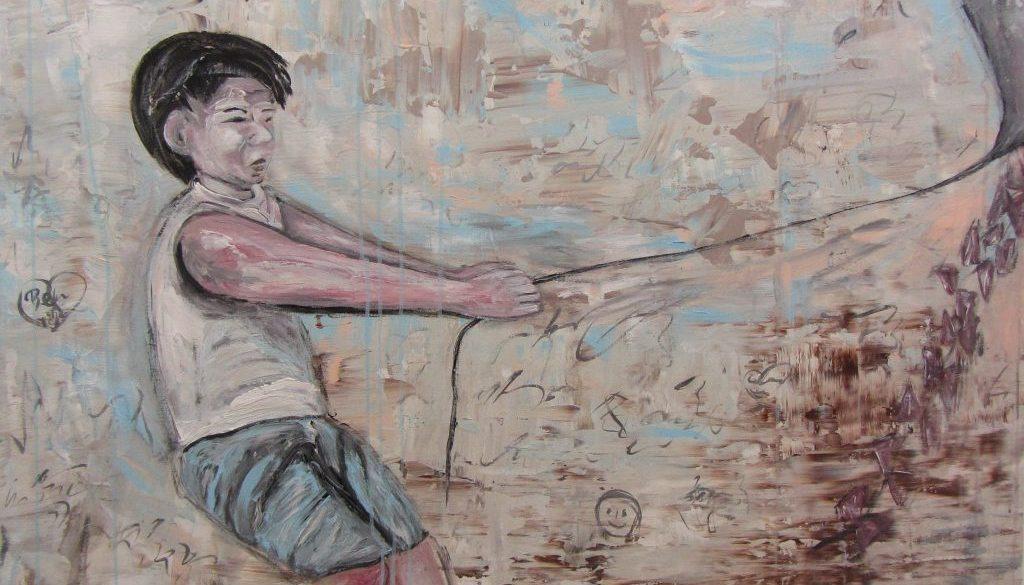Freedom, Acryl 120 x 100 cm 2019 © VG Bild-Kunst