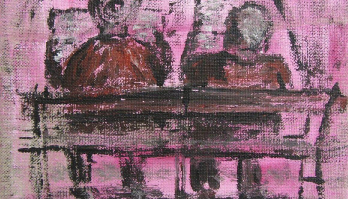 La Dolce Vita Beschaulichkeit, 2015, Acryl auf Lw. 100 x 50 cm © VG Bild-Kunst, S. Thatje-Körber