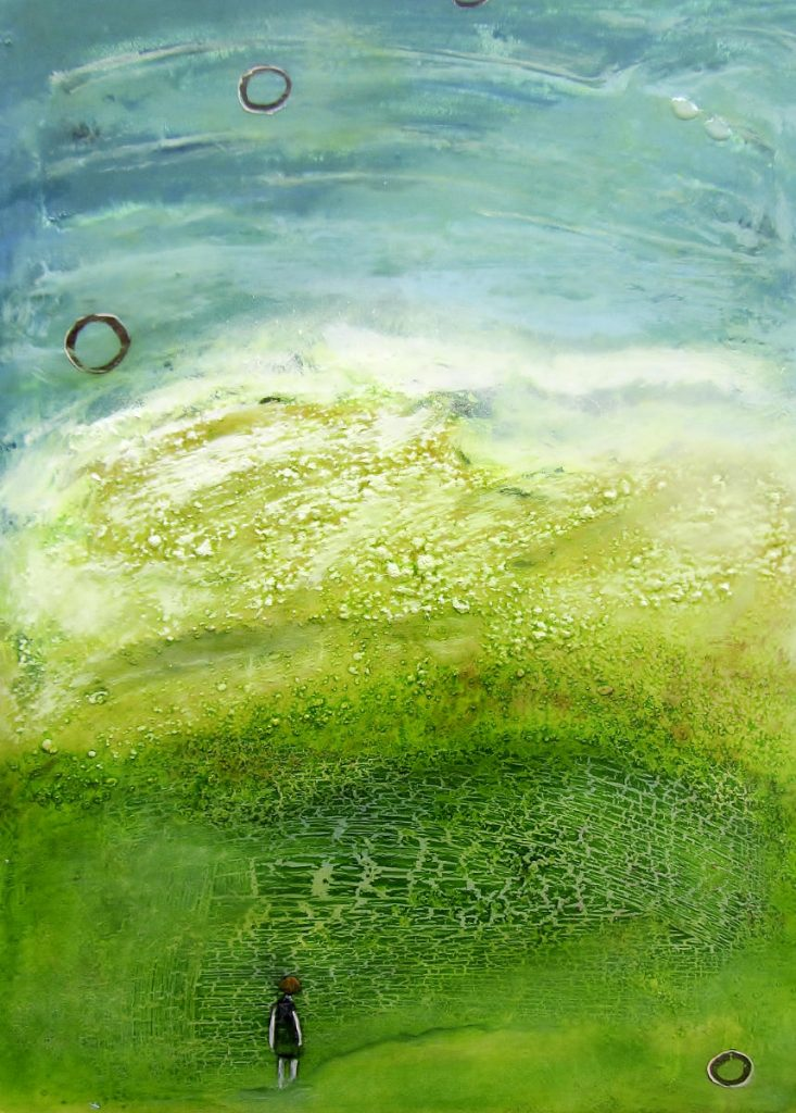 Landschaft mit Grün und Mädchen I, ©VG Bild-Kunst