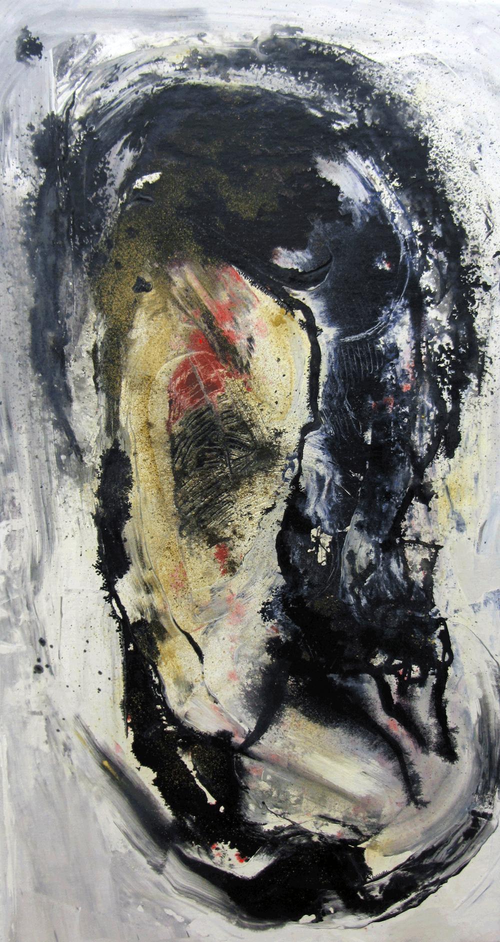 Physis-2-Nr 1, Tusche und Pigment – © VG Bild-Kunst, S. Thatje-Körber