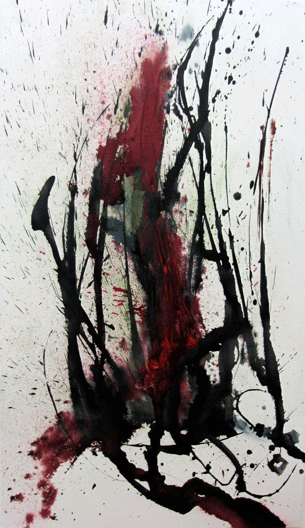 Physis-2-Nr 3, Tusche und Pigment – © VG Bild-Kunst, S. Thatje-Körber