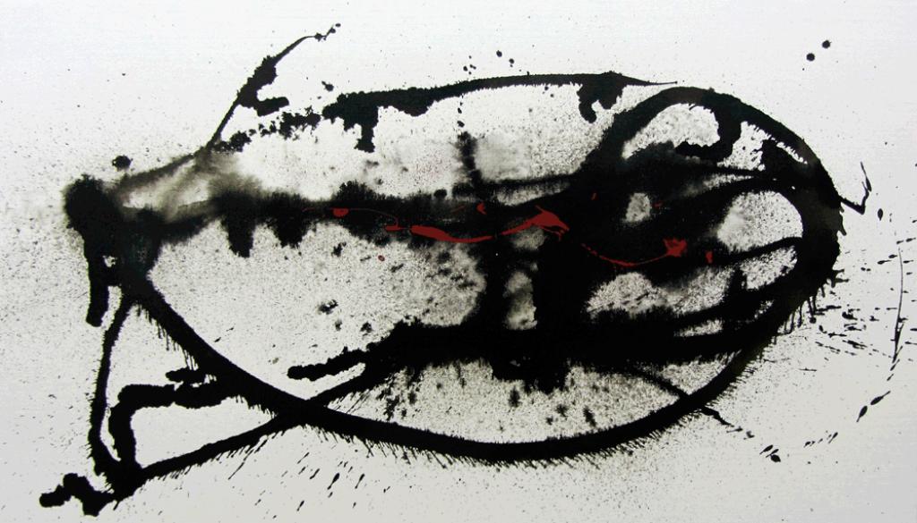 Physis-2-Nr 5, Tusche und Pigment – © VG Bild-Kunst, S. Thatje-Körber