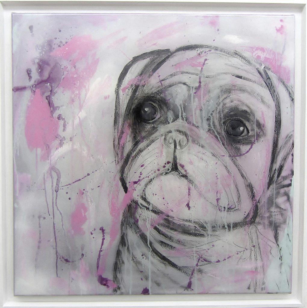 Puppy, Moepschen, gerahmt, 70 x 70 cm, 2020, ©VG Bild-Kunst