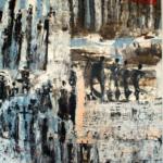Strippenzieher, Acryl auf Lw 130 x 140 cm, © VG Bild-Kunst, S. Thatje-Körber
