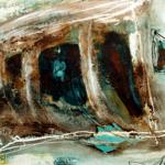 Verkrustungen, 80-x-60-cm, Öl auf Lw. – © VG Bild-Kunst, S. Thatje-Körber